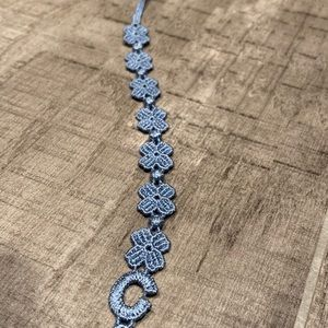Jewelry - Blue four leaf clover bracelet